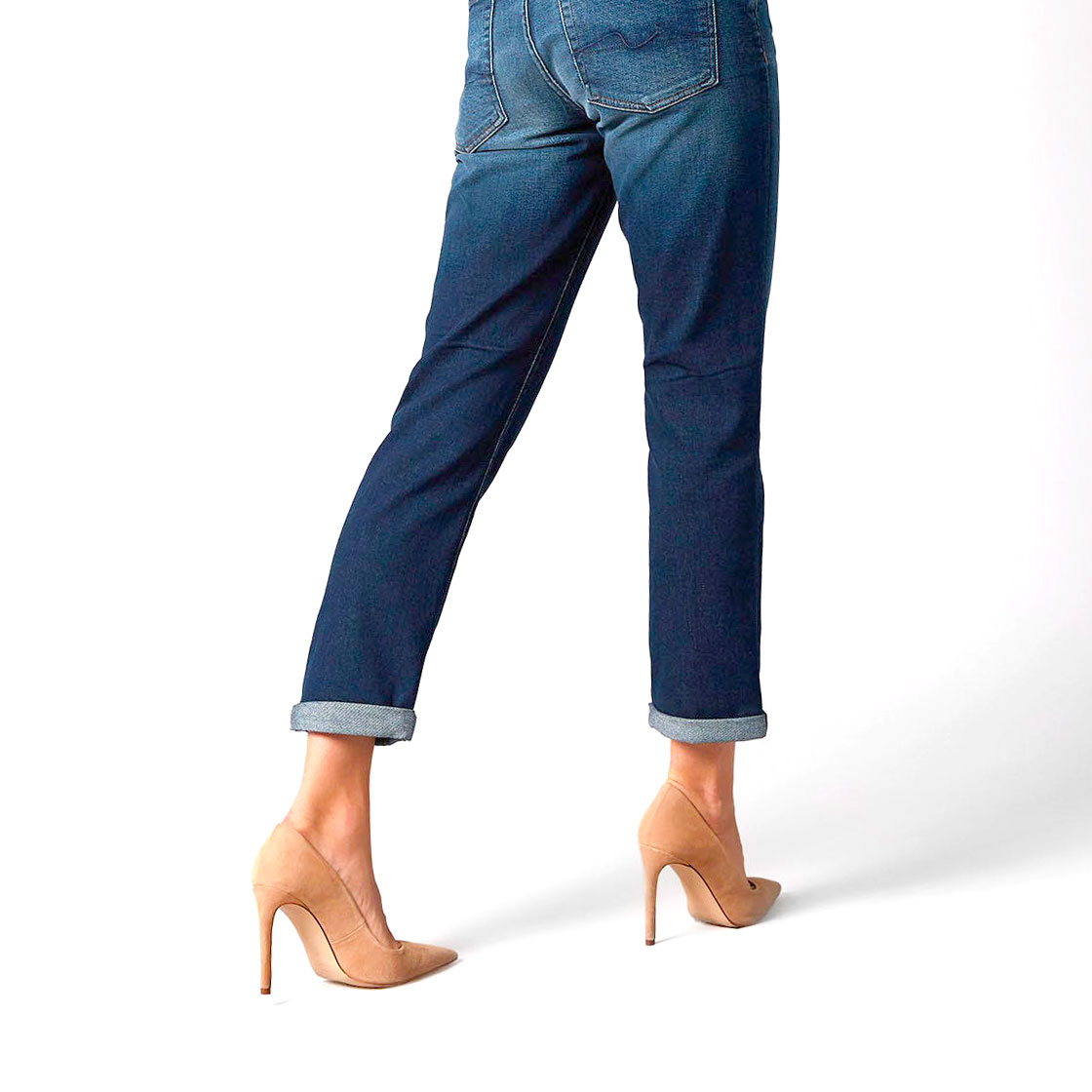 Walking with style wearing Jeans