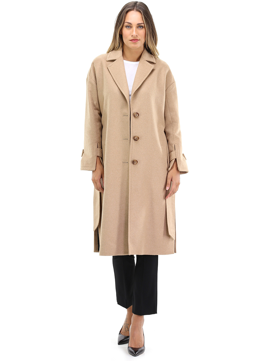 Bully cappotto donna, cammello, polyester, 2019, 44 46 m