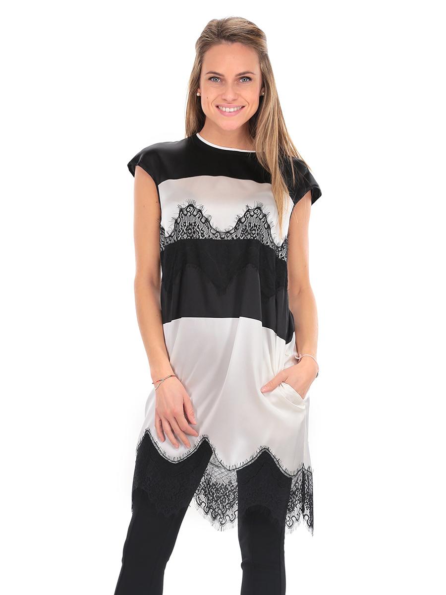 Vestito bianco e nero twin set