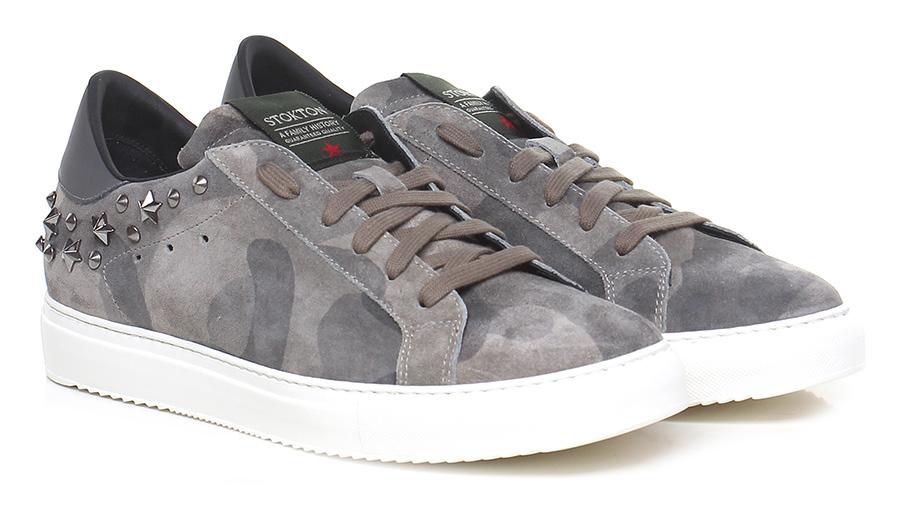 Sneaker Grigio/mimetico Stokton