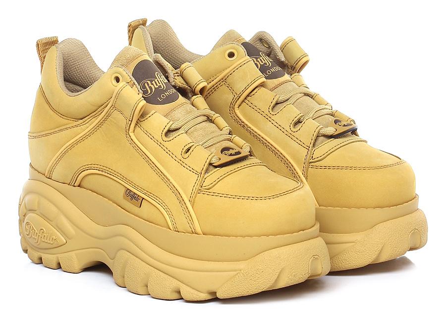 Sneaker Beige Buffalo Mode billige Schuhe