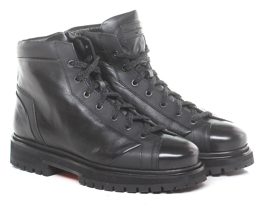 Polacco Nero Santoni Verschleißfeste billige Schuhe