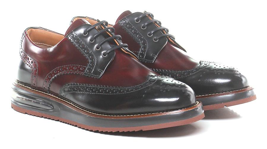 Stringata Bordeaux/black Barleycorn Verschleißfeste billige Schuhe