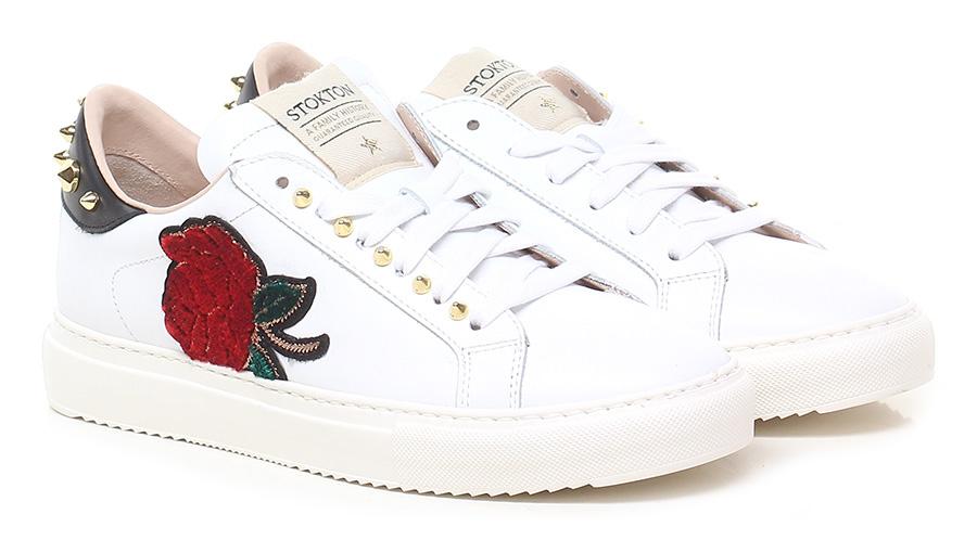 Sneaker Bianco/rosso/nero Stokton Verschleißfeste billige Schuhe