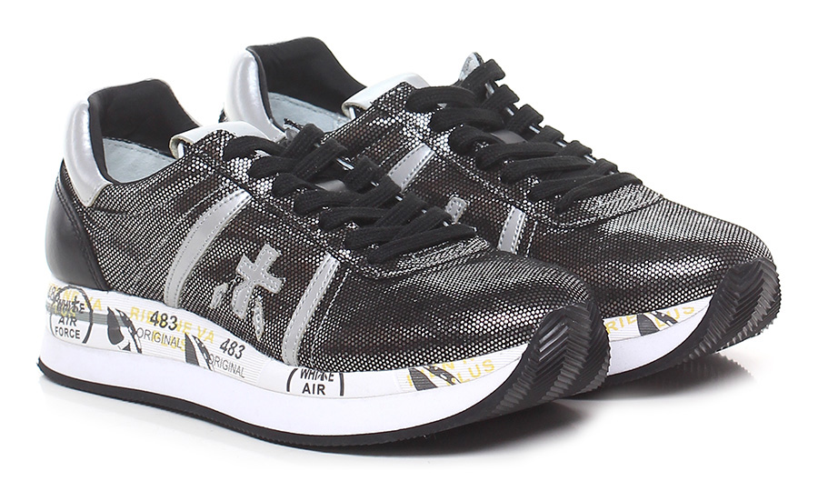 Sneaker 3342 black/nickel Premiata Verschleißfeste billige Schuhe