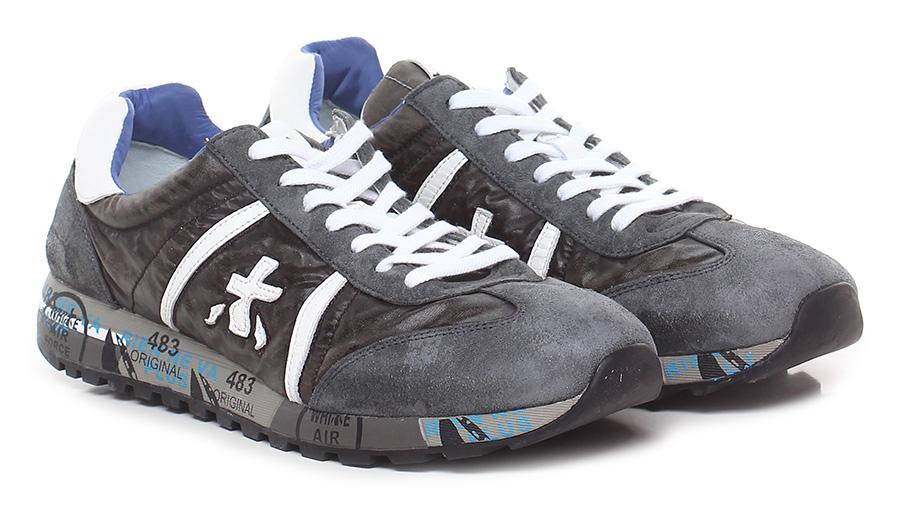 Sneaker 0402a grey/mud/white Premiata Verschleißfeste billige Schuhe