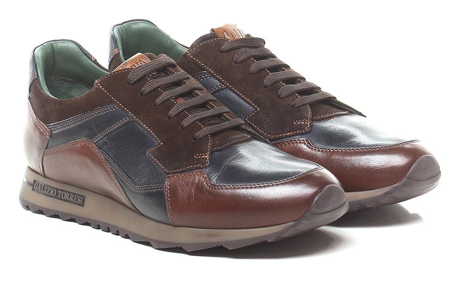 Sneaker Blu/cacao Galizio Torresi Verschleißfeste billige Schuhe