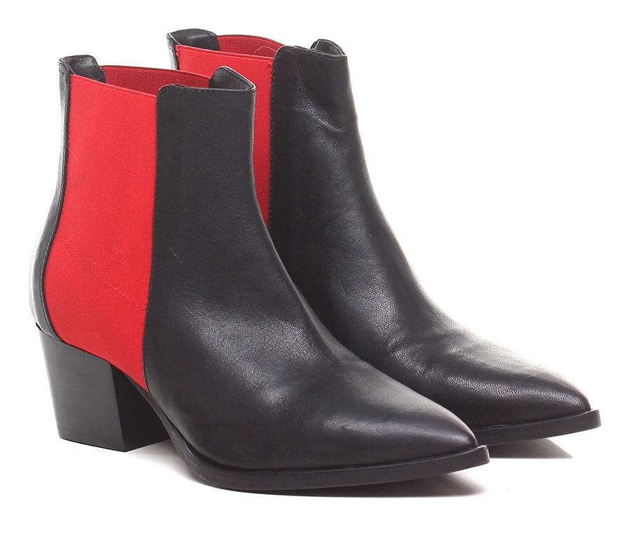Tronchetto Nero/rosso Lemare' Mode billige Schuhe