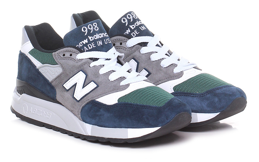 Sneaker Blue/grey7green New Balance Mode billige Schuhe