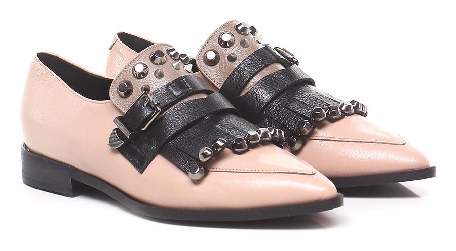 Scarpa bassa Rosa/nero/taupe Jeannot Verschleißfeste billige Schuhe