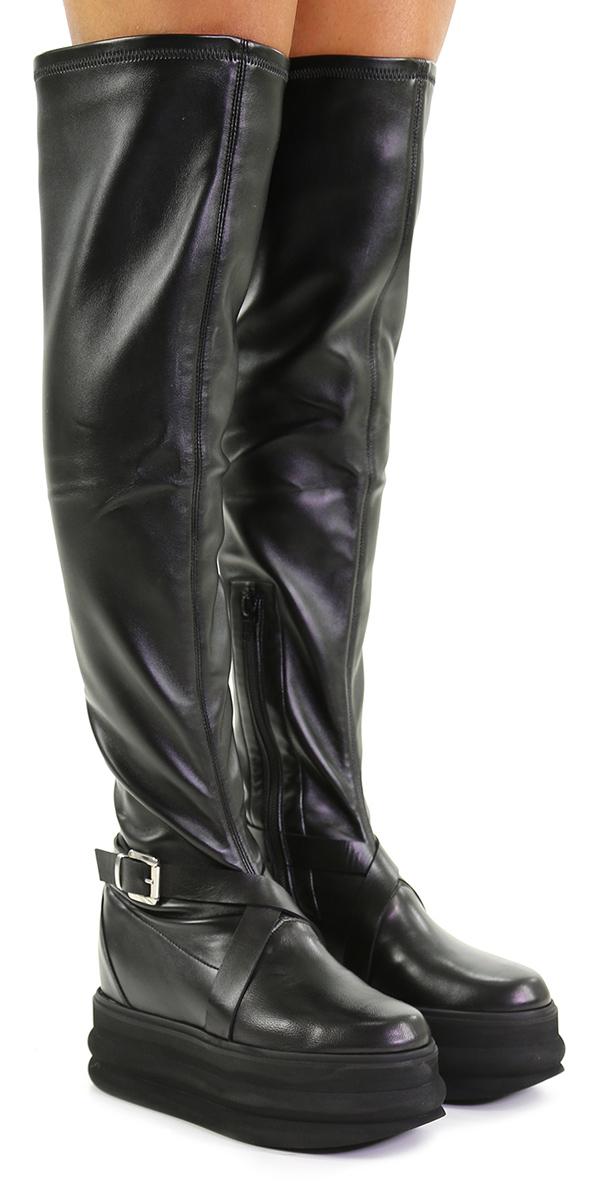 Stivale Nero Giampaolo Viozzi Mode billige Schuhe