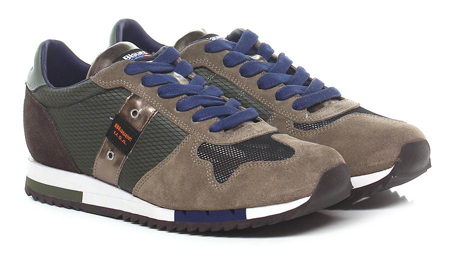 Sneaker Military/sand/brown Blauer Verschleißfeste billige Schuhe