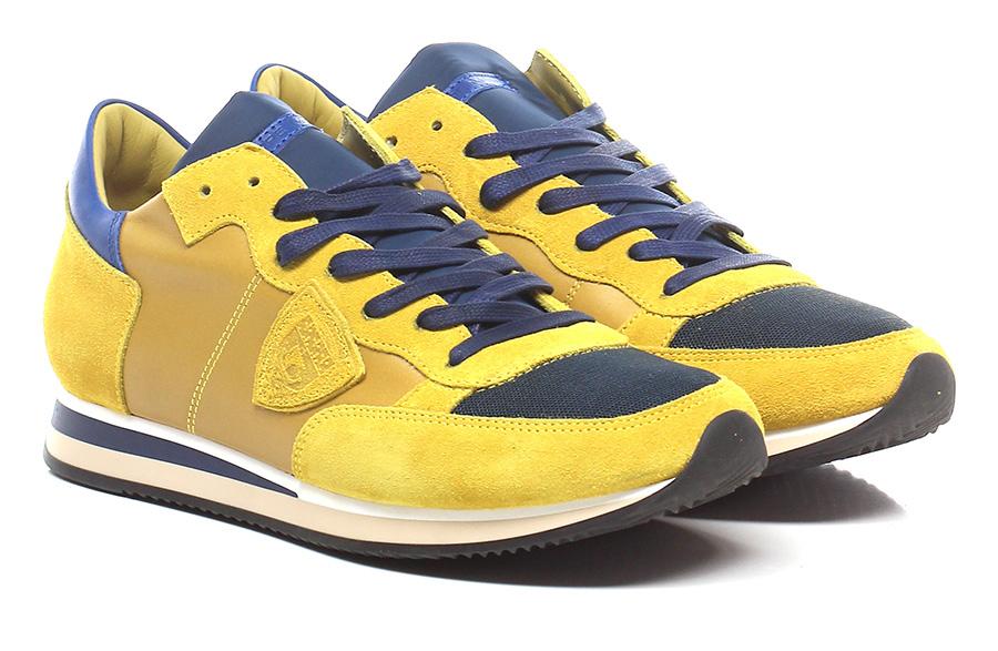 Sneaker Ocher/blue Philippe Model Paris