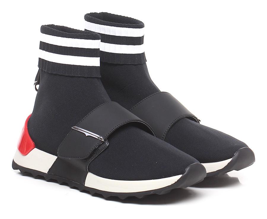 Sneaker Nero/bianco/rosso Guardiani Sport Verschleißfeste billige Schuhe