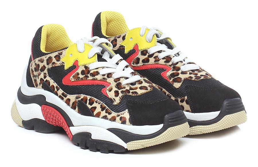 Sneaker Black/leopard/yellow ASH Verschleißfeste billige Schuhe
