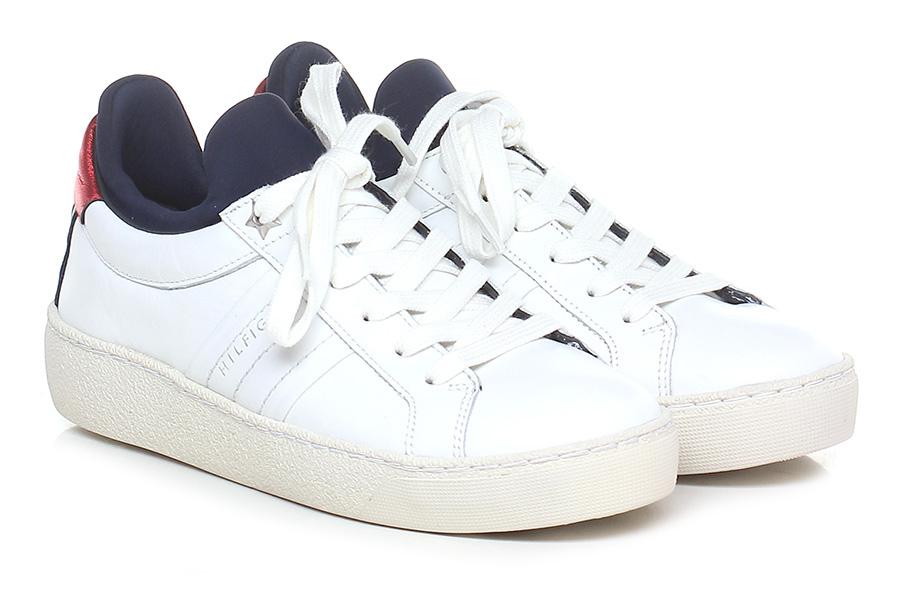 Sneaker White/red/navy Tommy Hilfiger Verschleißfeste billige Schuhe