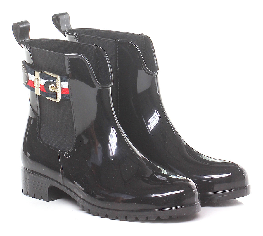 Tronchetto Hilfiger Black Tommy Hilfiger Tronchetto Mode billige Schuhe 2fe512