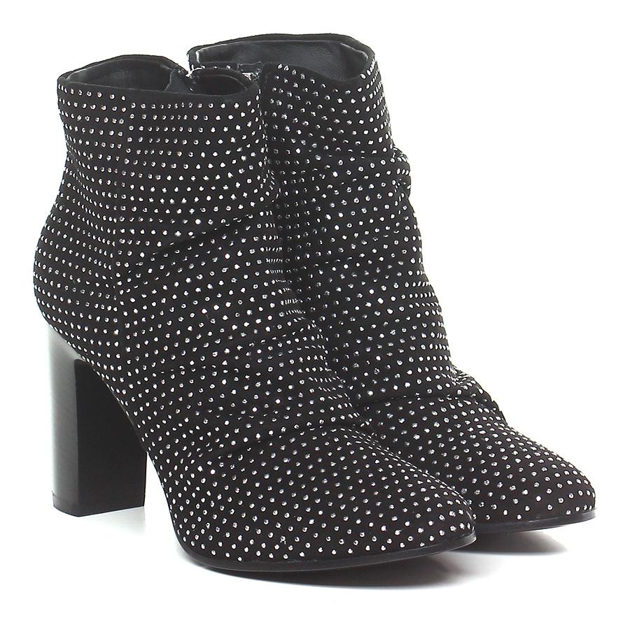 Tronchetto Nero/argento Janet & Janet Mode billige Schuhe