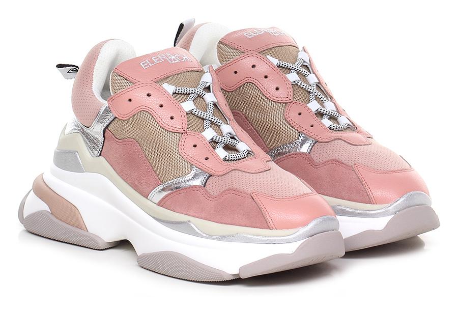 Sneaker Rosa/grigio Elena Iachi Verschleißfeste billige Schuhe