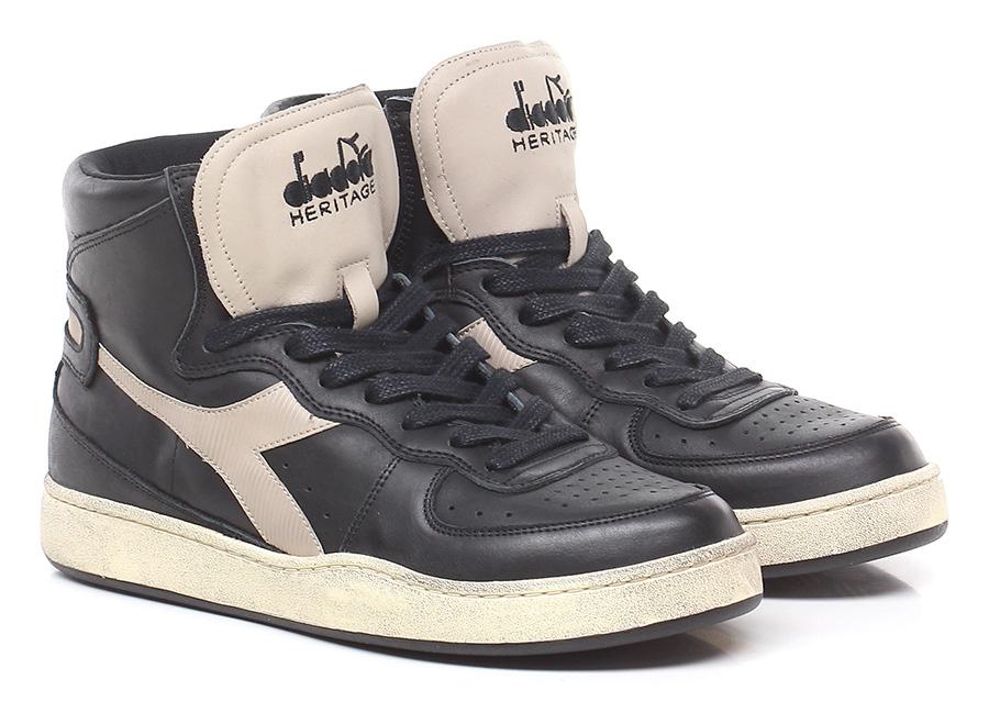 Sneaker Black/grey Diadora Heritage Verschleißfeste billige Schuhe