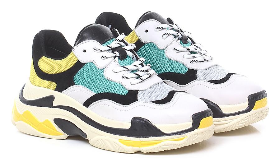 Sneaker Bianco/giallo/verde Schuhe La Carrie Verschleißfeste billige Schuhe Bianco/giallo/verde 741024