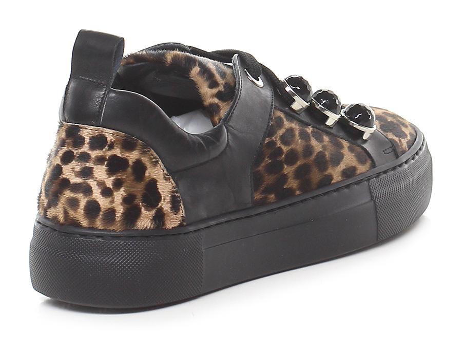 Sneaker Leopardo/nero Guglielmo Rotta Verschleißfeste billige Schuhe