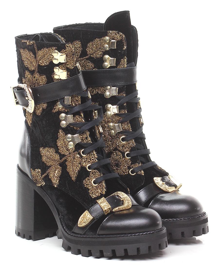 Polacco Nero/oro RAS Verschleißfeste billige Schuhe