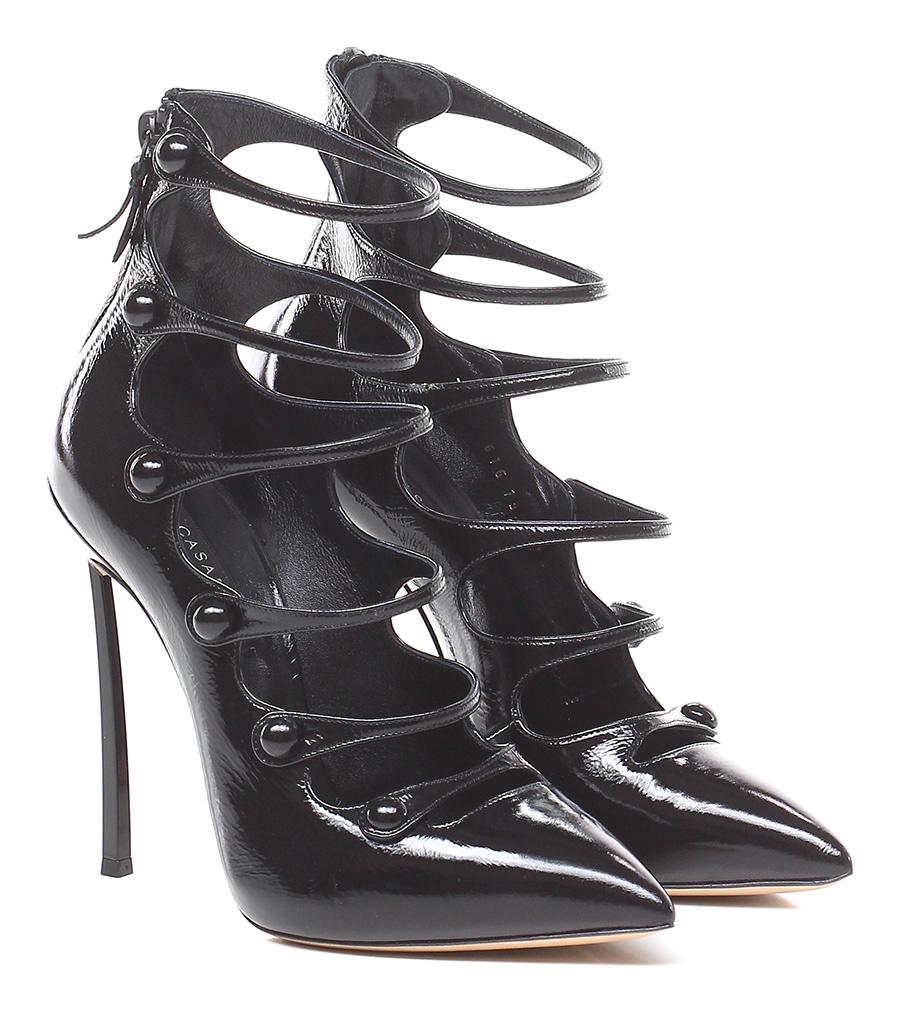Scarpa con tacco Nero Casadei Hohe Qualität
