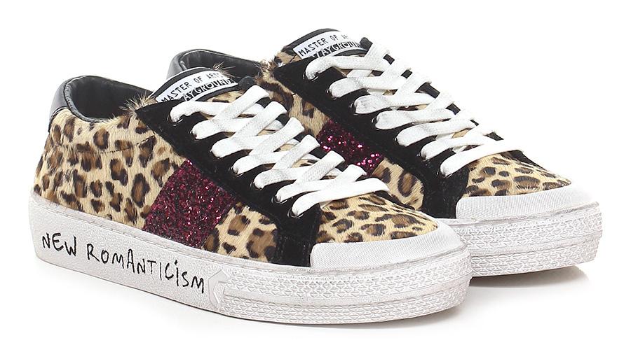 Sneaker Playground Leopardo/nero/fuxia Master of Arts Playground Sneaker 0d0184