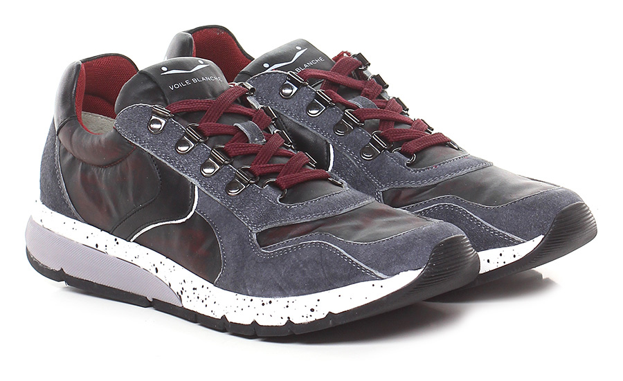 Sneaker Bordeaux/black/denim Voile Blanche Mode billige Schuhe