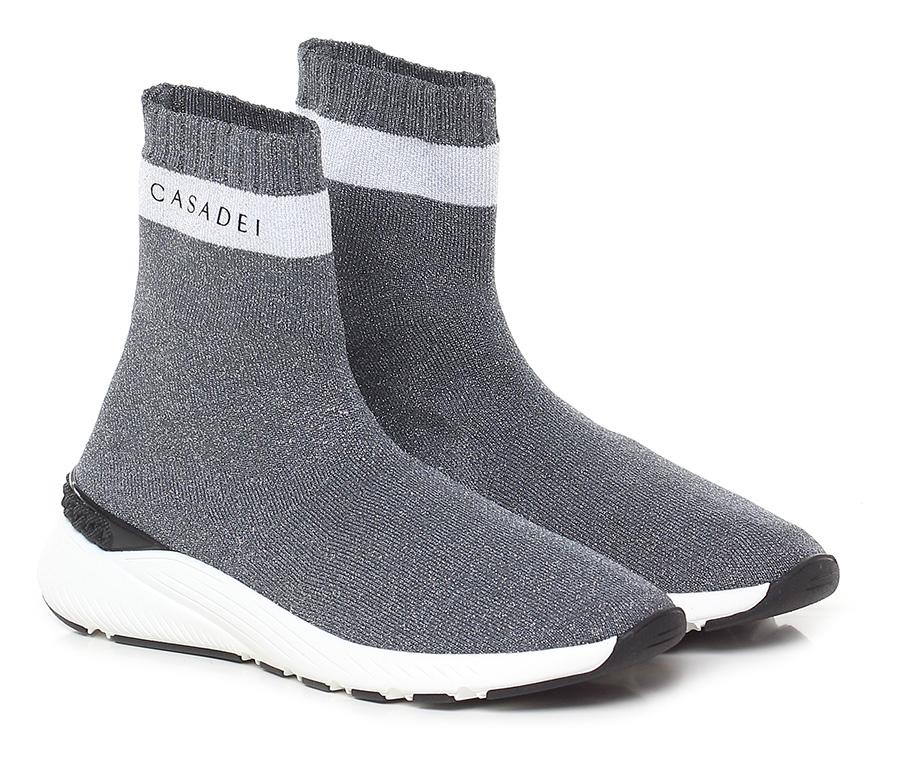 Sneaker Nero/argento/bianco Casadei Verschleißfeste billige Schuhe