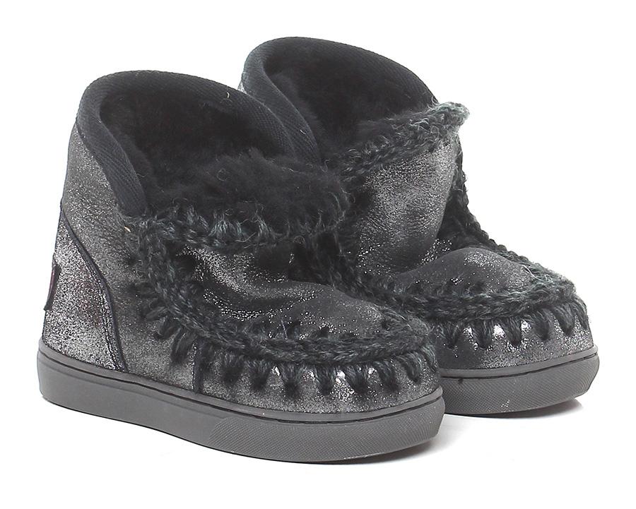 Tronchetto bambina Antrachite MOU Verschleißfeste billige Schuhe