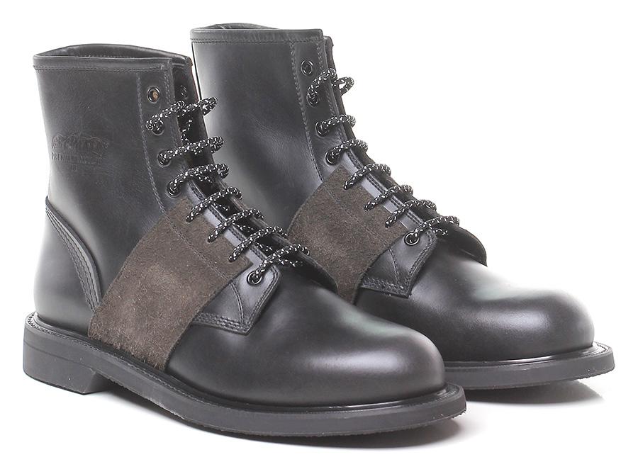 Polacco Black/mud Premiata Verschleißfeste billige Schuhe