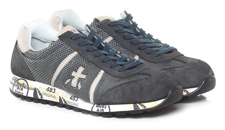 Sneaker 3210 grey/ivory Premiata Verschleißfeste billige Schuhe