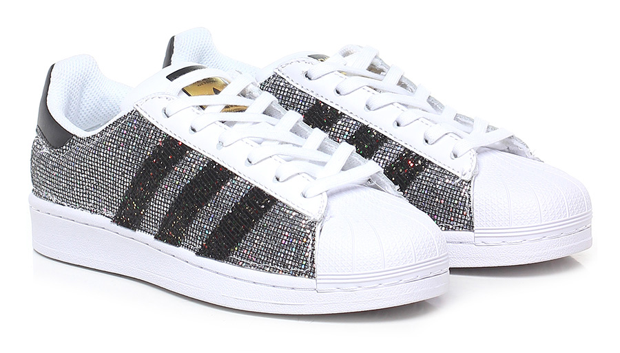 Sneaker Whitesilver Adidas Customized nel 2020 | Sneakers