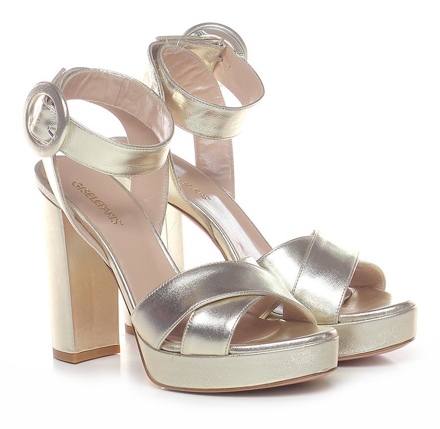 Sandalo alto  Platino Gisele Paris | Il Nuovo Prodotto  | Attraente e durevole  | Il Nuovo Prodotto  | Scolaro/Ragazze Scarpa