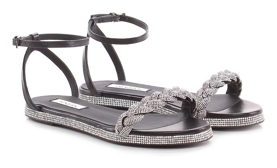 Sandalo basso Nero argentoo Ninalilou | Prezzi Ridotti  | marche  | Cheap  | Uomo/Donne Scarpa