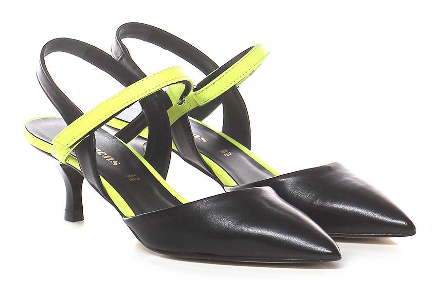 Scarpa con tacco Nero giallo fluo Carmens | Buon Mercato  | Ottimo mestiere  | Prima classe nella sua classe  | Uomini/Donna Scarpa