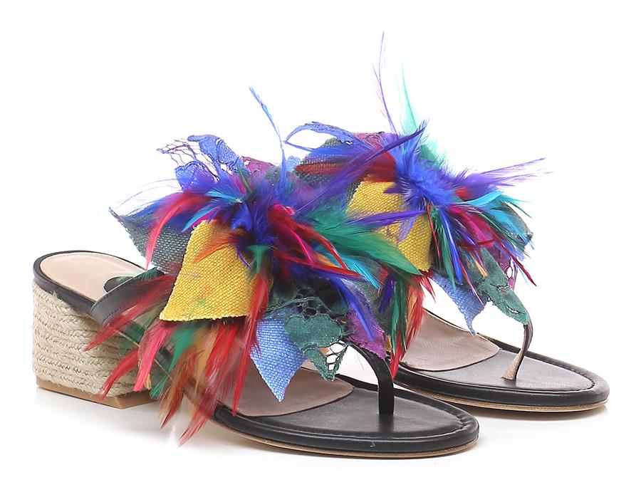 Sandalo alto Neromulticolor RAS Le Follie Shop