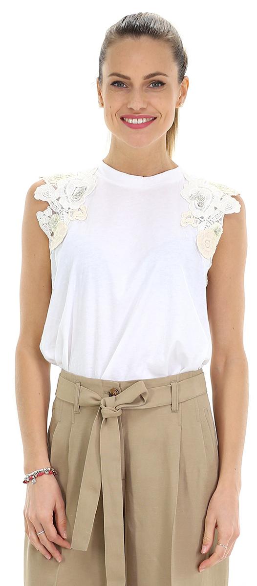 low priced 81349 0f6c9 T-shirt Nero 00001 Twin SET - Le Follie Shop