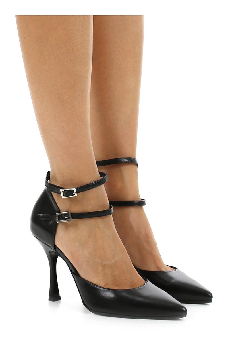 Scarpa con tacco schwarz Andrea Pinto
