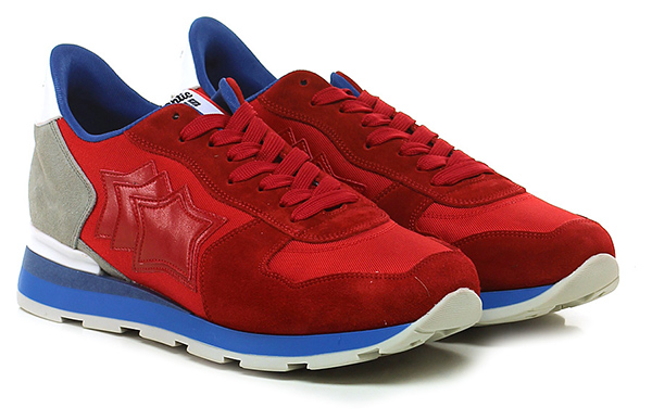 Sneaker Red/grey Atlantic Stars Verschleißfeste billige Schuhe