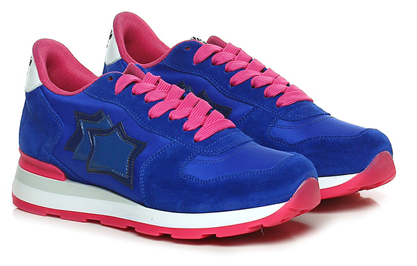 Sneaker Bluette/fuxia Atlantic Stars Verschleißfeste billige Schuhe
