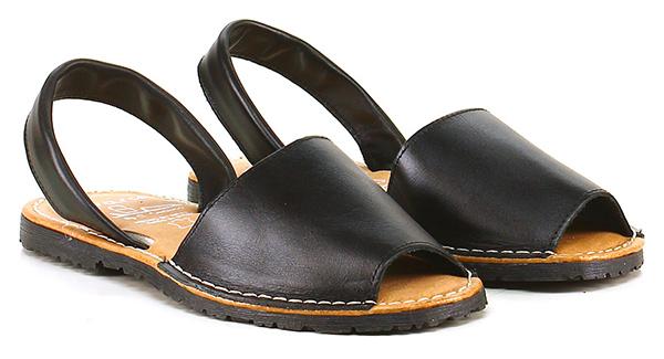 Sandalo basso Nero Avarca by C. Ortuno