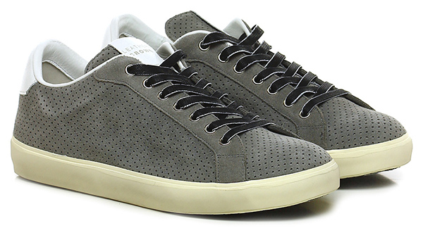 Sneaker Grey Leather Crown Verschleißfeste billige Schuhe