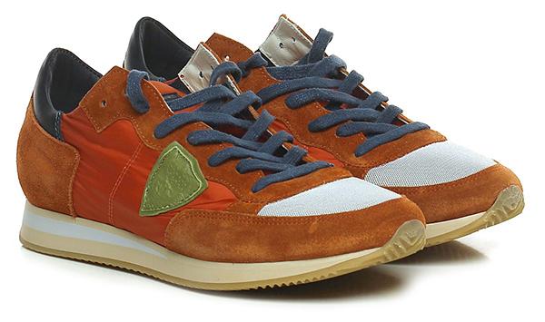 Sneaker Orange/blu Philippe Model Paris Scarpe economiche e buone