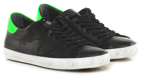 Sneaker Black/green Schuhe Philippe Model Paris Mode billige Schuhe Black/green 6060dc