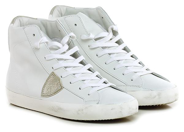 Sneaker White/silver Philippe Model Paris Hohe Qualität