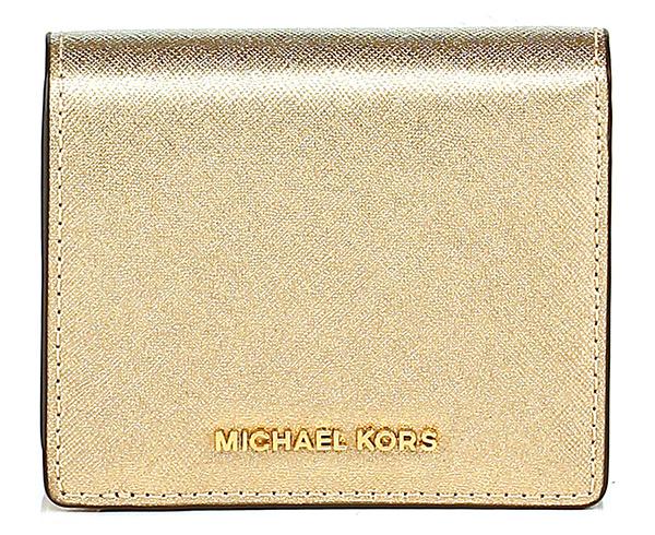 Portafoglio jet set travel pale gold michael kors le - Porta tessere e banconote ...