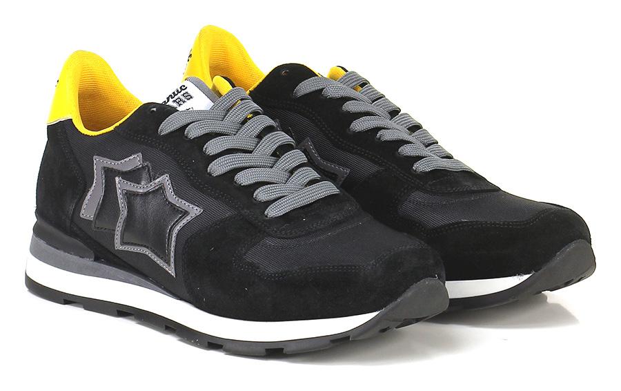 Sneaker Black/yellow Atlantic Stars Verschleißfeste billige Schuhe